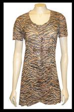 Brown and Black Zebra Tunic-tn