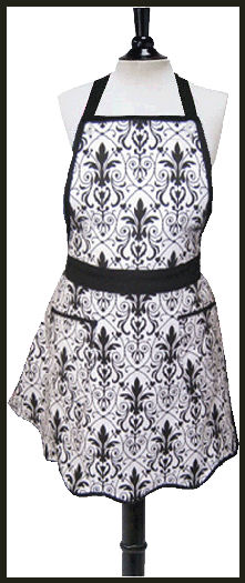 Black and white Emily apron-lg