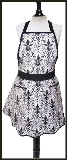 Black and white Emily apron-lg
