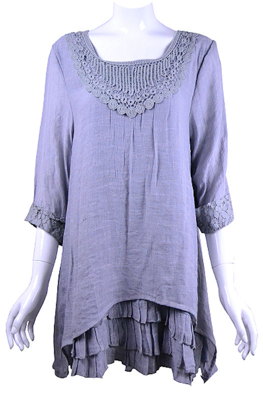 Grey linen top-lg